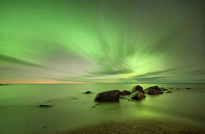 Photograph - Traverse Bay Aurora by Copyright © Federico Buchbinder