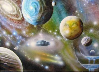 Painting - Traversing The Multiverse by Sam Del Russi