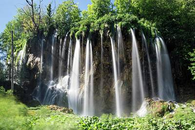 Upper Lake Photograph - Travertine Terrace Waterfall by Dr Juerg Alean