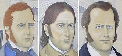 Republic Of Texas Painting - Travis - Crockett - Bowie by Mark Barnett