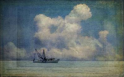Photograph - Trawler In The Clouds by Alice Gipson