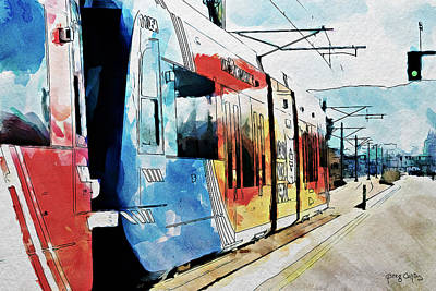 Painting - Trax Green Line by Greg Collins