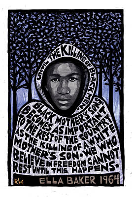 Racism Mixed Media - Trayvon Martin by Ricardo Levins Morales