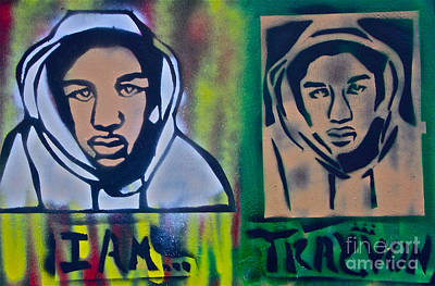 Free Speech Painting - Trayvon Martin by Tony B Conscious