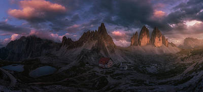 Valley Wall Art - Photograph - Tre Cime by David Mart?n Cast?n