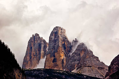 Print featuring the photograph Tre Cime Di Lavaredo by Charles Lupica