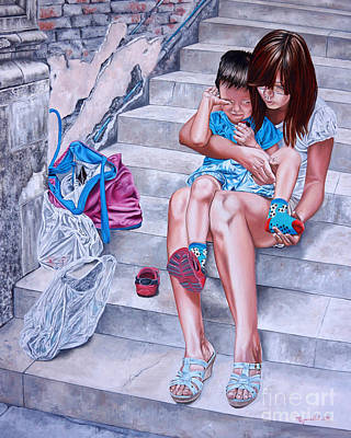 Painting - Treacherous Shoes - Zapatos Traicioneros by Rezzan Erguvan-Onal