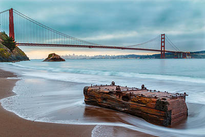 Treasure And The Golden Gate Bridge Art Print