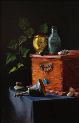 Petrov Painting - Treasure And Time by Dan Petrov