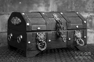 Photograph - Treasure Chest In Black And White by Alycia Christine