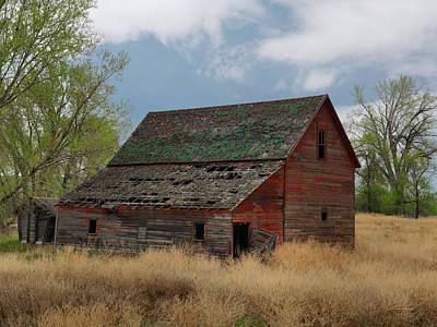 Barn Wood Photograph - Treasure County Barn by Leland D Howard