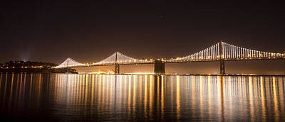 Photograph - Treasure Island Bay Lights by Bryant Coffey