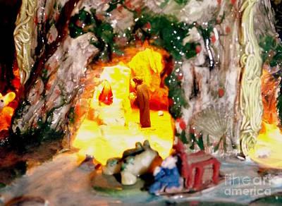 Photograph - Treasure Mountain Altar Scene by John Potts