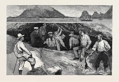 Phoenix Drawing - Treasure Seeking In The Haunts Of The Old Buccaneers by English School
