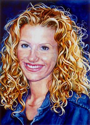 Hand-painted Portraits Painting - Treasured Daughter by Hanne Lore Koehler