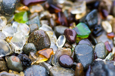 Sea Glass Photograph - Treasures From The Sea by Priya Ghose