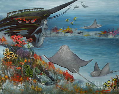 Painting - Treasures Of The Deep by Lora Duguay