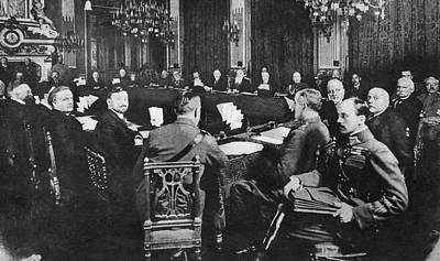 Treaty Of Brest-litovsk Art Print