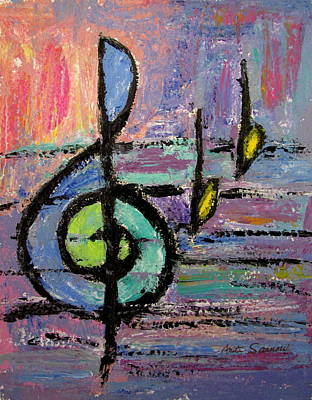 Painting - Treble Clef by Anita Burgermeister