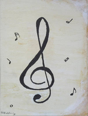 Painting - Treble Cleft by Martin Blakeley