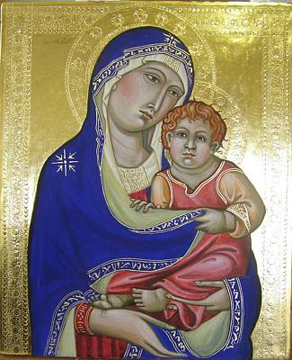 Egg Tempera Painting - Trecento Madonna by Peter Murphy