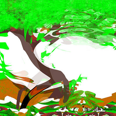 Painting - 1164 - Tree  by Irmgard Schoendorf Welch