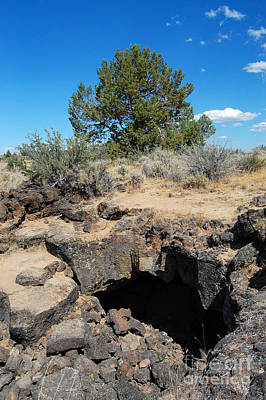 Photograph - Lava Beds National Monument Cave by Debra Thompson