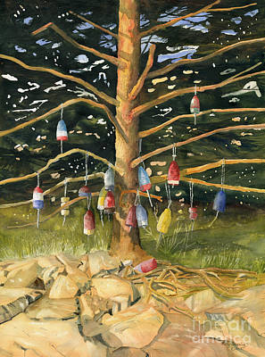 Painting - Tree And Hanging Buoy II by Melly Terpening