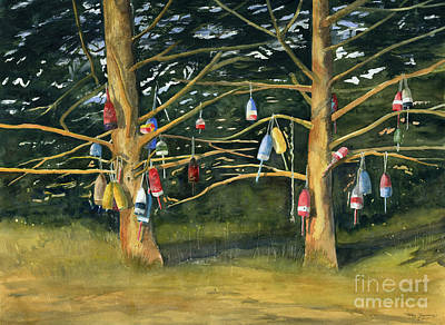 Painting - Tree And Hanging Buoy I by Melly Terpening
