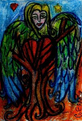 Tree Roots Art Painting - Tree Angel by Genevieve Esson