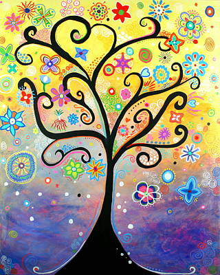 Painting - Tree Art Fantasy Abstract by Bob Baker and Pooki Lee
