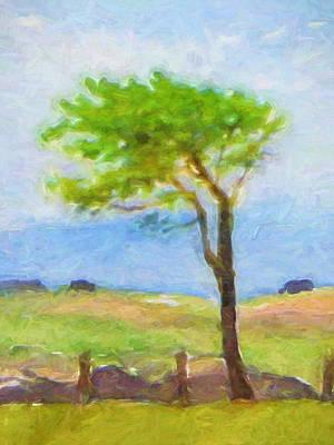 Tree At The Coast Art Print by Lutz Baar