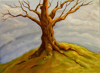 Tree At The Top Of The World Art Print