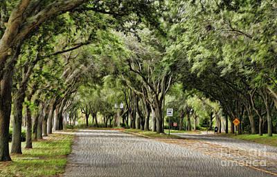 Thomas Kinkade Rights Managed Images - Tree Beauty Royalty-Free Image by Deborah Benoit