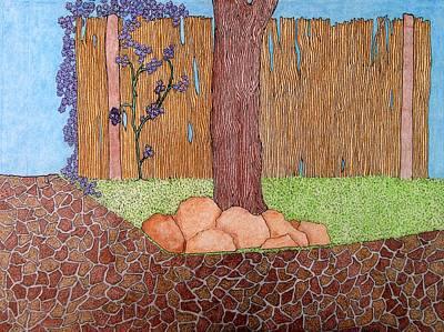 Tree Bottom 3 Of 3 Art Print