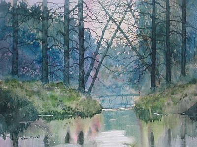 Painting - Tree Bridge by Glenn Marshall