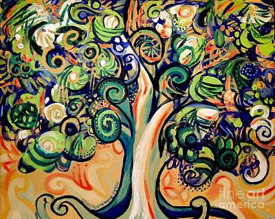 Eco-art Painting - Tree Candy 2 by Genevieve Esson