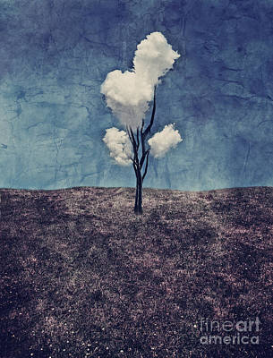 Surrealistic Digital Art - Tree Clouds 01d2 by Aimelle