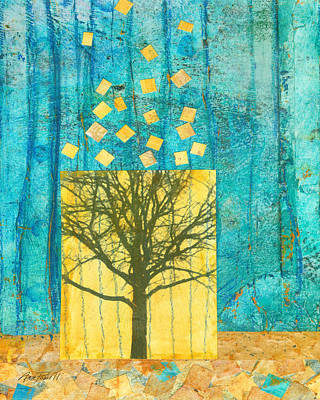 Nature Abstract Mixed Media - Tree Collage by Ann Powell