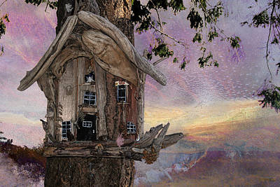 Faerie Photograph - Tree Faerie Dwelling by Ed Hall