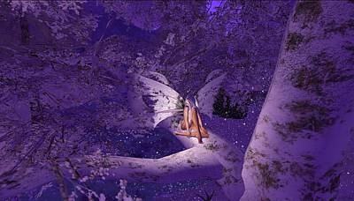 Tree Fairy In Snow Art Print