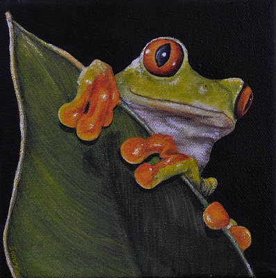 Tree Frog Peeking At You Art Print