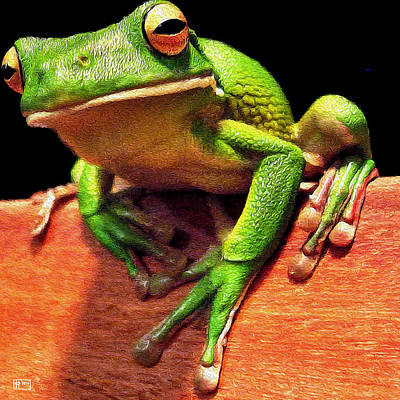 Digital Art - Tree Frog Toehold by Jim Pavelle