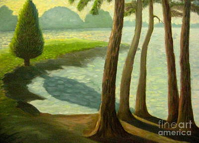 Tree Gossip At Galt's Ferry Art Print