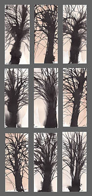 Millbury Painting - Tree Grid by Sumiyo Toribe