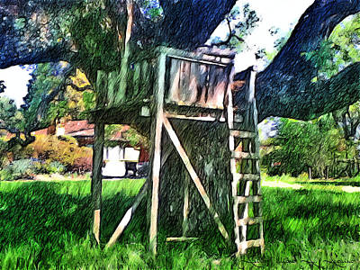 Painting - Tree House by Withintensity  Touch
