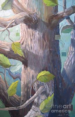 Tree Hugger Art Print by Paula Marsh