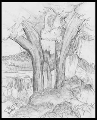 Drawing - Tree Huggers by Ruth Renshaw