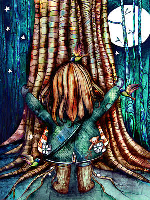 Tree Hugs Art Print by Karin Taylor
