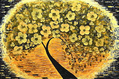 Painting - Tree In Golden by Mariana Stauffer